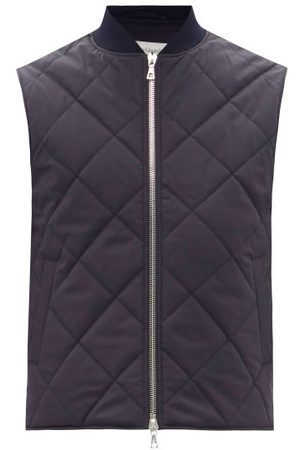 OFFICINE GENERALE Dave Quilted-shell Gilet - Mens - Navy
