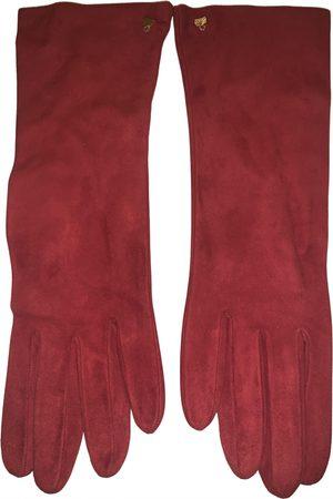 Judith Leiber Suede Gloves