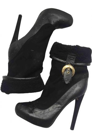 John Galliano Leather Ankle Boots
