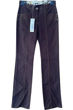 Cavalli Class Cotton Trousers