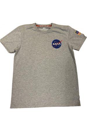 Alpha Industries Grey Cotton T-shirt