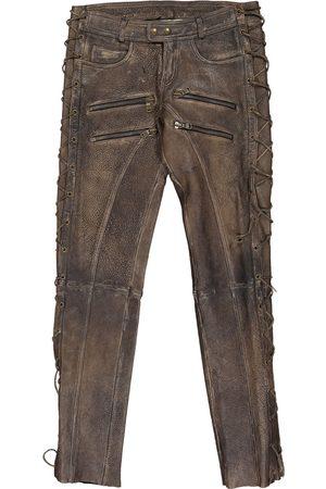 FAITH CONNEXION Leather trousers