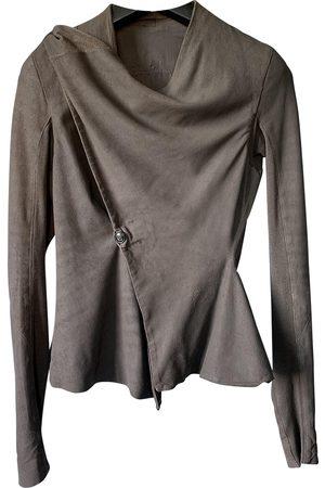 Rick Owens Leather short vest