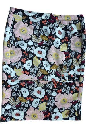Bimba y Lola Maxi flower printed straight skirt