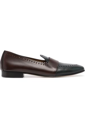 Edhen Milano Hamptons perforated leather loafers