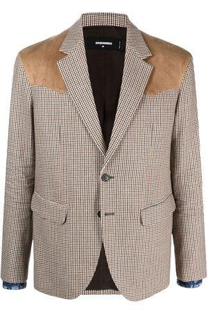Dsquared2 Checked wool blazer - Neutrals