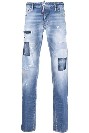 Dsquared2 Distressed stonewashed bootcut jeans