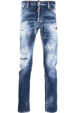 Dsquared2 Bleach-wash mid-rise skinny jeans