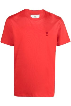 Ami Men Short Sleeve - Embroidered-logo short-sleeve T-shirt