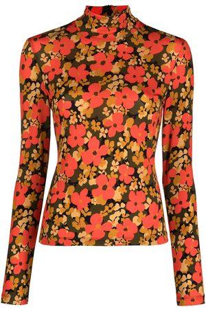 ROSETTA GETTY Floral-print rollneck top - Multicolour