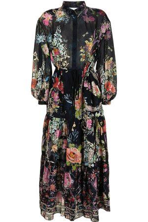 Camilla Women Printed Dresses - Floral-print silk maxi dress