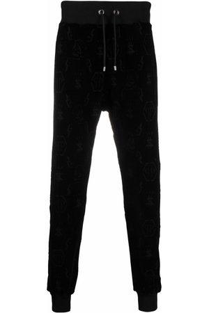 Philipp Plein Debossed-monogram track pants