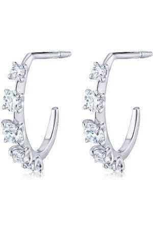 Kwiat 18kt white gold petite Starry Night diamond hoop earrings