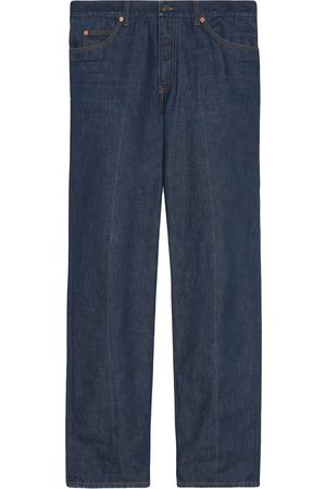 Gucci Men Straight - Eco-washed organic straight-leg jeans
