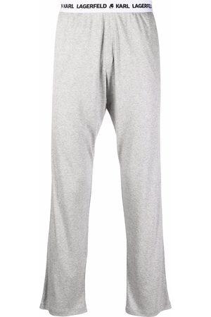 Karl Lagerfeld Logo-tape sweatpants - Grey