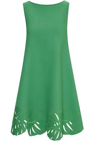 Oscar de la Renta Leaf appliqué minidress