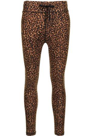 The Upside Leopard-print midi yoga pants
