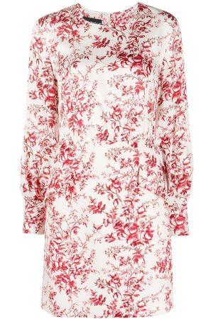 Moschino Floral long-sleeve mini dress - Neutrals