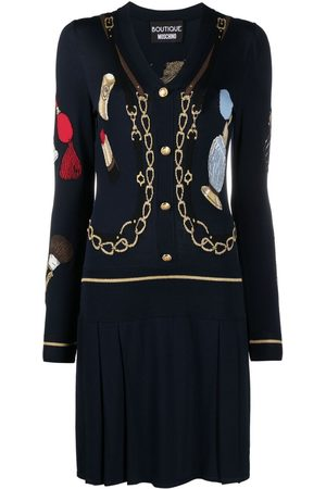 Moschino Embroidered knit jumper dress