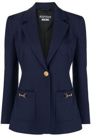 Moschino Women Blazers - Horsebit-detail single-breasted blazer