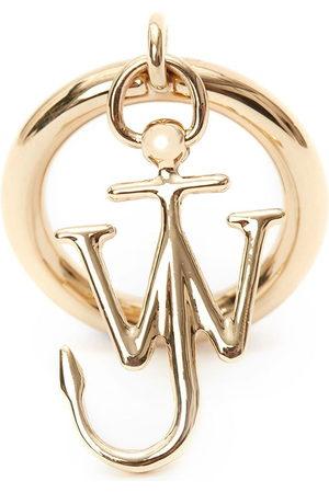 J.W.Anderson Women Rings - JW Anchor charm ring