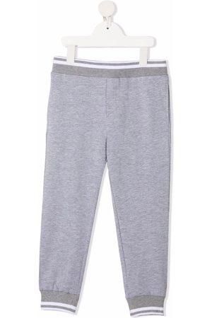 MONNALISA Stripe-trimmed track pants - Grey