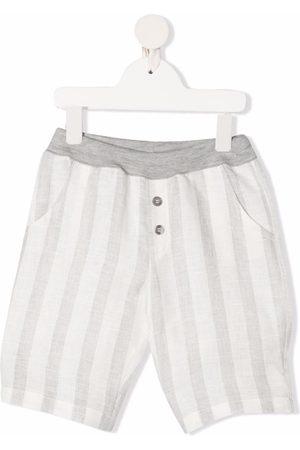 OPILILAI Striped straight-leg shorts