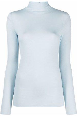 12 STOREEZ Fine-knit jersey turtleneck top
