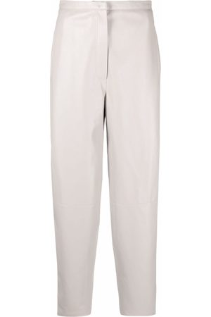 12 STOREEZ Loose-fit tapered trousers - Grey