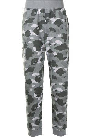A Bathing Ape Men Sweatpants - Camouflage-print track pants - Grey