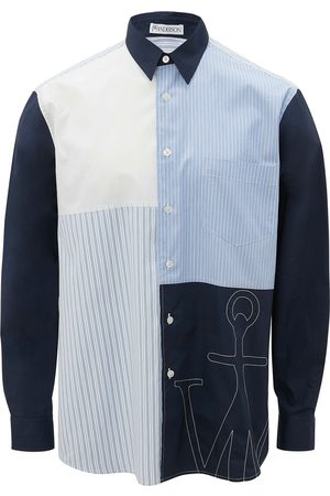 JW Anderson Embroidered logo patchwork shirt