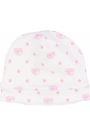 Chiara Ferragni Logo print beanie hat