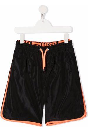Diesel Boys Shorts - Logo-waist track shorts
