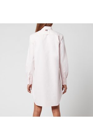 Thom Browne Women's Thigh Length L/S Point Collar Shirtdress with Gg Placket