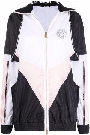 VERSACE Women Sports Jackets - Greca logo-trim lightweight jacket