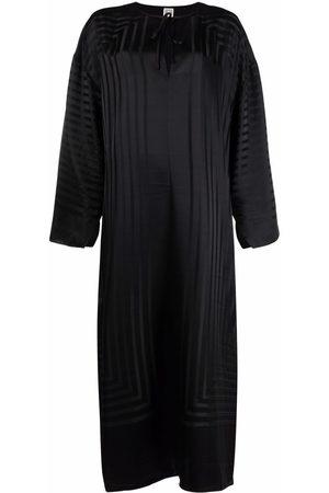 Totême Striped silk tunic maxi dress