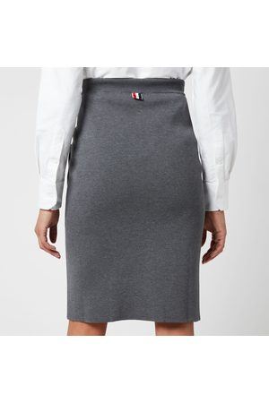 Thom Browne Women Pencil Skirts - Women's Double Face Pencil Skirt with Rwb Bow Pockets