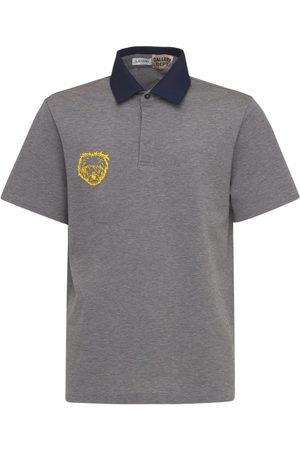 GALLERY DEPT X LANVIN Men Polo Shirts - Logo Cotton Jersey Knit Polo