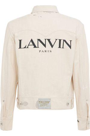 GALLERY DEPT X LANVIN Men Denim Jackets - Logo Printed Denim Jacket