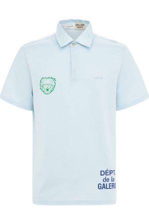 GALLERY DEPT X LANVIN Logo Cotton Jersey Knit Polo
