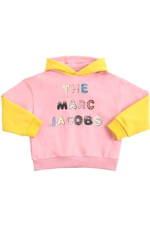Marc Jacobs Girls Hoodies - Embellished Cotton Sweatshirt Hoodie