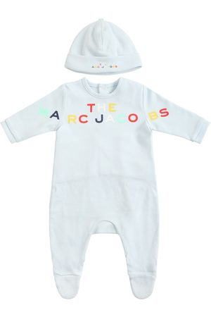 Marc Jacobs Printed Organic Cotton Romper & Hat