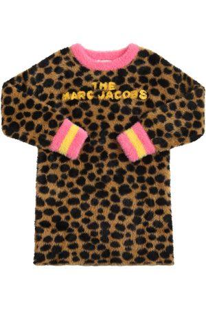 Marc Jacobs Leopard Print Knit Sweat Dress