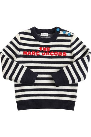 Marc Jacobs Boys Sweaters - Striped Knit Sweater W/ Embroidered Logo