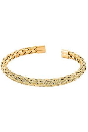 BRACHA Lana Twist Rope Cuff in Metallic .