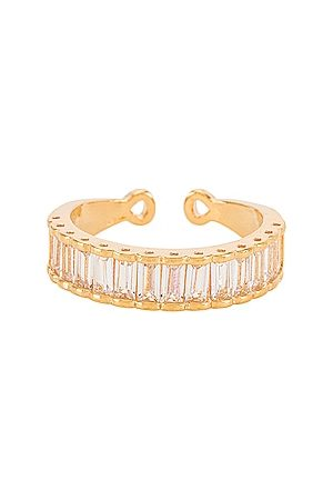 BRACHA Baguette Queen Ring in Metallic .