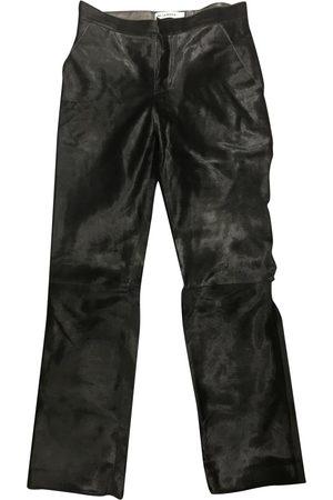 Jil Sander Leather Trousers