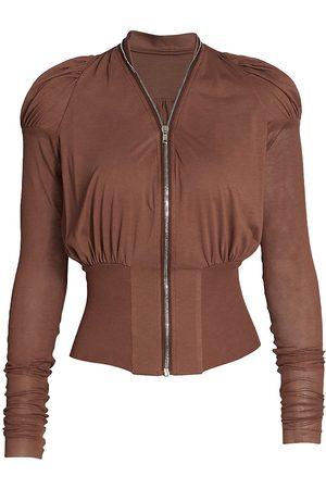 RICK OWENS LILIES Women's Zip Up Jacket - Throat - Size 2