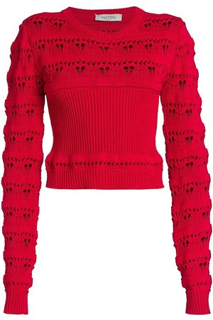 VALENTINO Women's Open Knit Detail Sweater - - Size Large