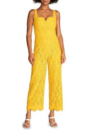 Trina Turk Women's Adventure Sleeveless Lace Jumpsuit - Mimosa - Size 6